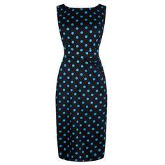 Černé šaty s tyrkysovým puntíkem Lady V London Venus Když chcete dát  vyniknout ženským půvabům a bb4d1d24ef