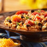 Southwest cous cous. Great side dish alternative rather than Mexican rice. Eat Clean. Vegan.