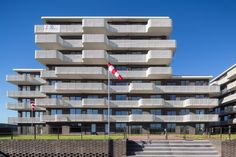 Zeeburgereiland, Amsterdam. By Inbo #appartments #balconies