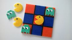 Pacman Tic-Tac -Toe hama beads by Empiezadores