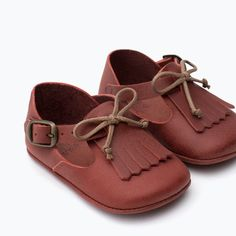MINI LEATHER SHOES-Shoes-Mini | 0-12 months-KIDS | ZARA United States