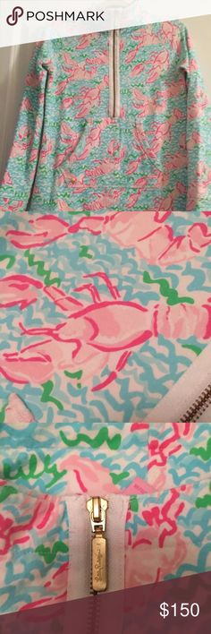 EUC Lobstah Roll Popover Cat friendly home. Minor pilling on armpits and front and minor wash wear on armpits. I am the second owner and have never worn this Lilly Pulitzer Sweaters