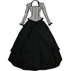 Amazon.com: Partiss Women Vintage Cotton Gothic Victorian Dress Costumes: Clothing