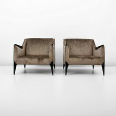 Pair of Lounge Chairs, Manner of Gio Ponti : Lot 219 Gio Ponti, Lounge Chairs, Manners, Palm Beach, Dining Bench, Armchair, Furniture Design, Upholstery, Sweet Home