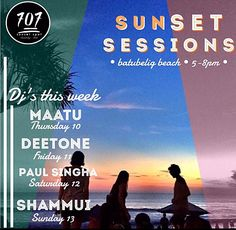 Shores of Seminyak, Bali; 707 may have the best beach vibe for sunsets.