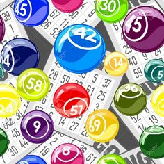 Bingo Seamless Background With Balls And Cards Royalty Free Cliparts, Vectors, And Stock Illustration. Image 18514862. Casper Logo, Bingo Clipart, Bingo Pictures, Loteria Cards, Bingo Board, Seamless Background, Vector Art, Diy And Crafts, Clip Art