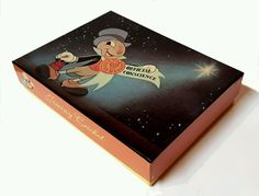 New DISNEY JIMINY CRICKET GREETING CARDS ~ BOX 20 Cards & Envelopes ~ 4 Scenes