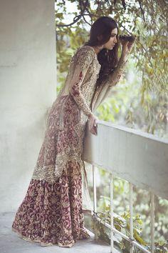 "highfashionpakistan: "" Saira Rizwan's new couture collection, 2015. Model: Rubab Ali. Photography by Muzi Sufi. """