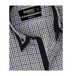 Brown With Multi Check Shirt