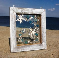 Beach Glass Window Hanger by beachcreation on Etsy, $90.00