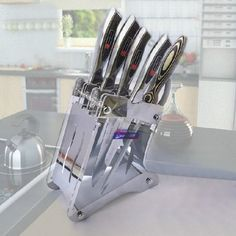 Organic Glass Tool holder Acrylic Vertical Cutting Tool/Knife Rack