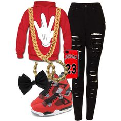Red black white for my mama, created by tupacbabyceci on Polyvore