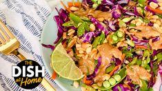 Thai Peanut Salad - ChefJamika.com Chunky Peanut Butter, Peanut Butter Fat Bombs, Peanut Butter Recipes, Quick Recipes, Healthy Recipes, Healthy Foods, Vegetarian Recipes, Thai Peanut Salad, Healthy Cooking