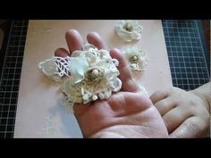 Vintage Handmade Flower using your lace remains - YouTube