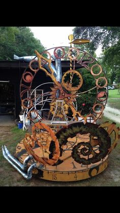 Steampunk prop for marching band