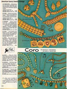 Coro vintage jewelry ad, year unknown