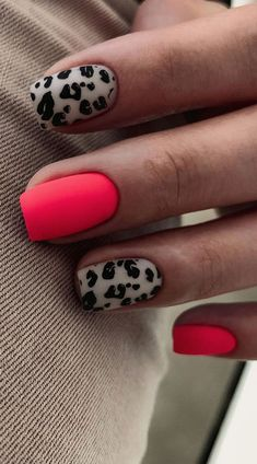 Get Nails, Fancy Nails, Love Nails, Pink Nails, Pretty Nails, Leopard Nails, Girls Nails, Pastel Nails, Bright Summer Nails