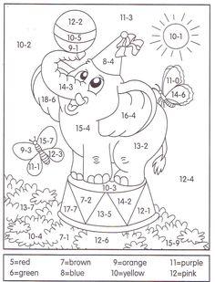 Matematika Pro Školky, Omalovánky, Matematika Pro První Ročník, Sčítání A Odčítání