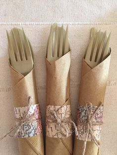 set of 16 utensil sets-napkin knife fork and by lovestrungshop