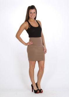 High Waisted Fitted Skirt #high #waisted #skirt #fitted #tan #kieus