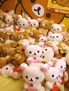 i think there should be a rilakkuma build a bear Kawaii Shop, Kawaii Cute, Kawaii Stuff, Taemin, Cute Stuffed Animals, Otaku, Japanese Characters, Cute Plush, Cute Japanese