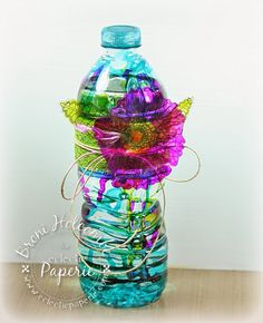 Eclectic Paperie: Altered Water Bottle - ePlay Challenge (by Broni Holcombe)