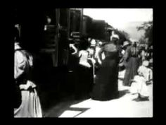 The Arrival of a Train at La Ciotat Station (1895). is an 1895 French short black-and-white silent documentary film directed and produced by Auguste and Louis Lumière. Contrary to myth, it was not shown at the Lumières' first public film screening on 28 December 1895 in Paris, France: the programme of ten films shown that day makes no mention of it. Its first public showing took place in January 1896.