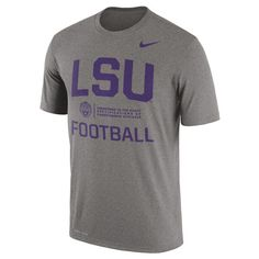 1da0d4d20db55 LSU Tigers Nike Legend Lift Performance T-Shirt - Dark Gray