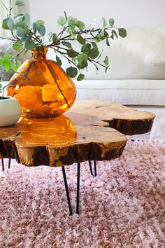 How to make a live-edge coffee table