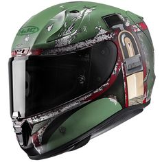 HJC RPHA 11 Pro Boba Fett Helmet These ARE the droids you're looking for. HJC Star Wars Helmets with character-specific graphics are going to be available on the HJC RPHA 11 Pro platform. The HJC RPHA 11 builds upon the hugely successful RPHA creating Boba Fett Motorcycle Helmet, Badass Motorcycle Helmets, Cool Motorcycles, Bike Helmets, Women Motorcycle, Enfield Motorcycle, Victory Motorcycles, Vintage Motorcycles, Boba Fett Casque