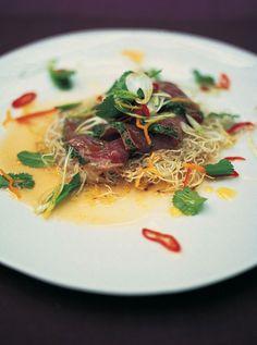 citrus-seared tuna with crispy noodles, herbs & chilli | Jamie Oliver | Food | Jamie Oliver (UK)