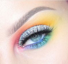 Show your #Pride in a soft and sweet rainbow eye inspired by @beccaboo318! She used #sugarpill eyeshadows and @nyxcosmetics glitter to create this beauty. SHOP: https://sugarpill.com/collections/pressed-eyeshadows