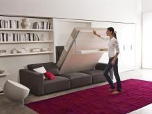 Шкаф-кровать, откидная кровать, подъёмная кровать трансформер от итальянского производителя CLEI под заказ. Изготовление трансформируемой мебели по индивидуальным проектам.