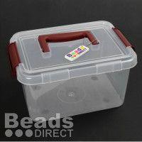 Clippy Lid Box - caixa transparente com pega - 23x16x13cm - 2,39 GBP - BEADS DIRECT