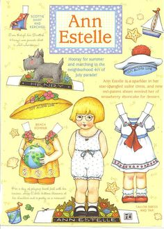 Ann Estelle, I used to love these paper dolls! I had oh so many of them! :0)