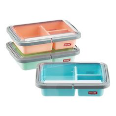 82b7358d886d 3-Compartment Lunch Bento Box Lunch Box Containers