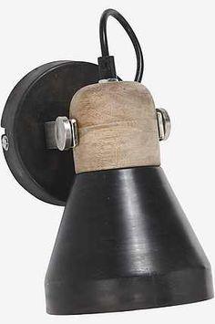 PR Home Vägglampa - Ashby spotlight Pale Oil Brown - 20 cm - www.
