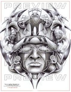 warrior face tattoo   aztec tattoo ideas   Pinterest