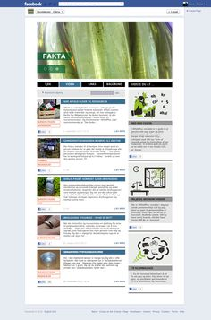 The facts page at Facebook. This is where AffaldPlus shares their knowledge of facts in the recycling and waste universe. Statistics and new measurements are uploaded along with articles and illustrated fact boxes.