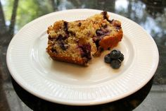 Blueberry oat cake, loaf cake