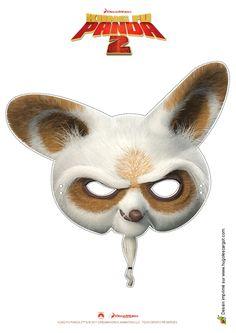 Le masque du maître Shi Fu, à découper et à porter pour s'amuser.