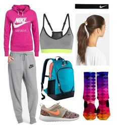 """""""Volunteering At a Race Next Weekend!!"""" by twinkie1619 ❤ liked on Polyvore featuring NIKE and Tasha"""