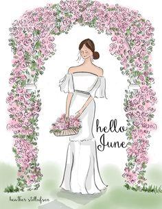 Heather Stillufsen Collection from Rose Hill Designs Hello Winter, Hello Summer, Autumn Cozy, Autumn Art, Hello June, Hello Monday, Hello Weekend, Illustrations, Cute Illustration