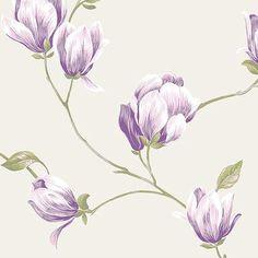 "Norwall Wallcoverings Inc English Florals 32.7' x 20.5"" Magnolia Wallpaper Color:"