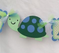 Turtle baby shower banner its a boy blues by NancysBannerBoutique