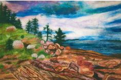 Jennifer Shaw - Acadia National Park - Needle felted with various wool fibers