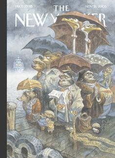 """The New Yorker - Monday, November 21, 2005 - Issue # 4145 - Vol. 81 - N° 37 - Cover """"Two By Two"""" by Peter de Sève"""