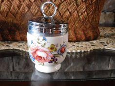 Vintage Fine Porcelain Royal Worcester Egg Coddler, Bournemouth Center Floral…