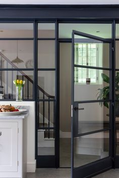 Steel Frame Doors, Steel Doors And Windows, Edwardian Haus, Crittal Doors, Crittall, Open Plan Kitchen Living Room, Inside Doors, Iron Doors, Internal Doors