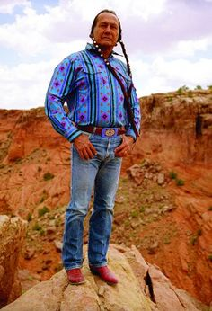 Russell Means, actor and activist  OGLALA SIOUX, PINE RIDGE RESERVATION